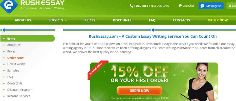 Rush essay reviews